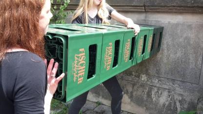 Bierkastenstemmen bei der Frankenolympiade
